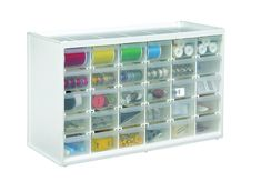 ArtBin Store-in-Drawer Cabinet, White Art Craft Supply Storage, 6830PC