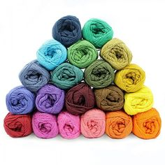 Garenpakket - Cotton 8/4 - Temperatuurdeken - 20 kleuren Garens Mayflower