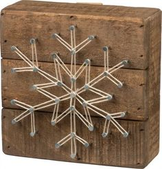 """Who doesn't love the beauty of a snowflake? This snowflake measures 4.5"""" square and fits in with any decor. Perfect for Winter and Christmas."""