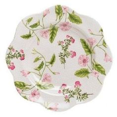 """Spode Botanical Lunch Plate(s) Convulvus by Spode. $9.99. Brand New - First Quality. Dimensions: 9 1/2"""" Dia. Lunch Plate(s) Convulvus - Floral Decor - Made In England"""