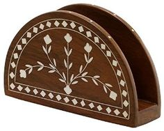 Amazon.com: Decorative Wood Napkin Holder Dining & Kitchen Gift: Kitchen & Dining