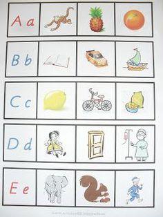 Hej igen! Här kommer ett nytt material som jag har gjort. Materialet består av hela alfabetet och man ska para ihop bilderna med bokst... Learn Swedish, Down Syndrom, Alphabet Activities, Reggio Emilia, Montessori, Kindergarten, Preschool, Letters, Teaching