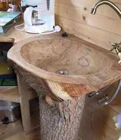 Holz Waschbecken Bad Form Holzoberfläche Gully Baumstamm - home decor ideas Woodworking Projects Diy, Woodworking Plans, Wood Projects, Intarsia Woodworking, Woodworking Supplies, Craft Projects, Woodworking Beginner, Green Woodworking, Woodworking Quotes