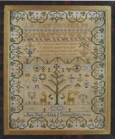 Ann Hull 1836 is the title of this cross stitch pattern from GPA Designs.