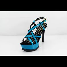 Jessica Simpson Turquoise Platform Heels Excellent condition. Only wear is sole. Jessica Simpson Shoes Heels
