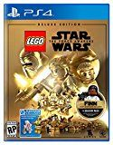 LEGO Star Wars: Force Awakens Deluxe Edition - PlayStation 4by Warner Home Video - Games4553% Sales Rank in Video Games: 15 (was 698 yesterday)Platform: PlayStation 4(73)Buy new: $69.99 $19.99101 used & new from $19.99 (Visit the Movers & Shakers in Video Games list for authoritative information on this product's current rank.)