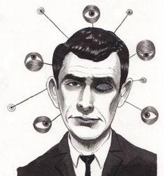 Twilight Zone creator Rod Serling is depicted here by Ken Garduno.