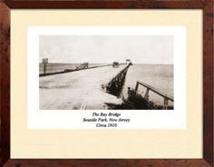 /Seaside-Park-NJ-Bay-Bridge-c-1910-Matted-Print-