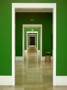 Inside the National Gallery. Go Green, Green And Grey, Green Girl, Kelly Green, Portal, National Gallery, Green Rooms, Green Walls, The National