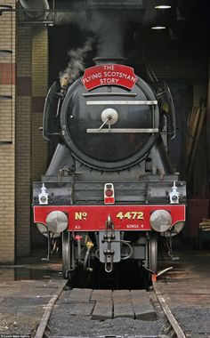 Built in Doncaster in 1923, the locomotive was named the 'Flying Scotsman' after the London to Edinburgh rail service which had been running since 1862...