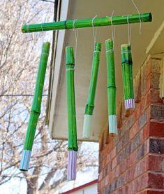 carillon bambou à suspendre devant la porte d'entrée