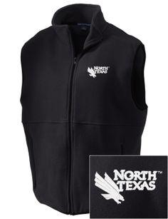 University of North Texas Mean Green Embroidered Men's Fleece Vest