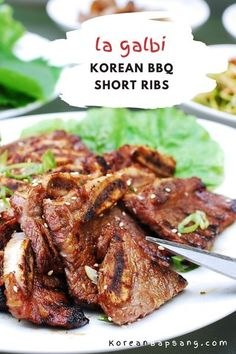 Make LA Galbi (or kalbi), Korean BBQ short ribs, at home using my tried-and-tested recipe for the perfect galbi marinade. It's best to grill the marinated beef short ribs over charcoal, but you can easily broil them in the oven or pan-fry too. #koreanbbq #koreanribs #koreanshortribs #koreanrecipe #koreanbapsang @koreanbapsang