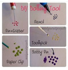 Dotting tools for making dots on your nails