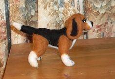 Needle Felted Beagle by KathysCraftShop on Etsy