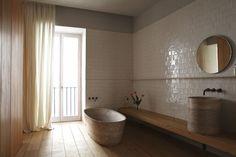 Santa Clara Hotel 1728 in Lisbon soakology.co.uk #interiors #bathroom