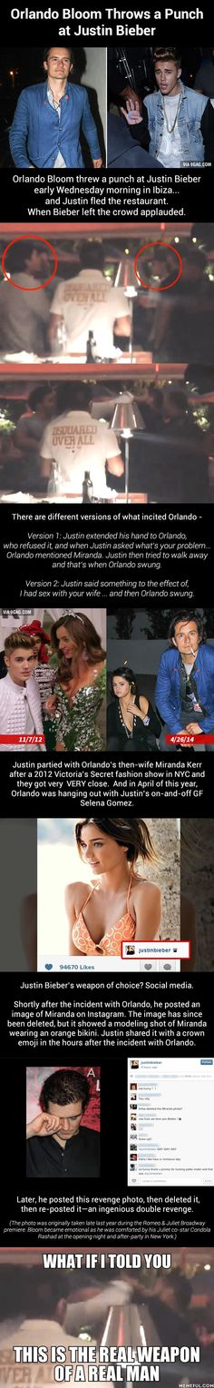 Orlando Bloom Throws a Punch at Justin Bieber And The People Cheer....Finally...