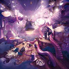 Mall Of Qatar - Carioca Studio Visual Advertising, Creative Advertising, Advertising Design, Digital Art Photography, Photography Illustration, Anime Fantasy, Fantasy Art, Wattpad Book Covers, Horror Themes