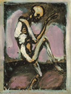 georges rouault paintings | Georges Rouault >> Danse Macabre (The Skeleton Laboureur) | (, artwork ...