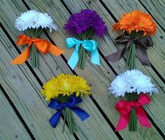 Daisy Bouquet, each bridesmaid could represent a different HP house