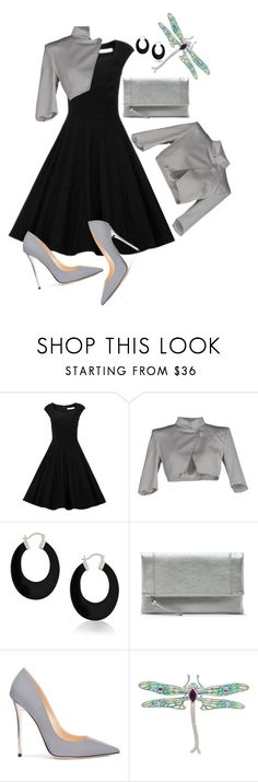 """""""Dragonfly #1"""" by paperdollsq ❤ liked on Polyvore featuring Patrizia Pepe, Bling Jewelry, Sole Society and Jimmy Choo"""