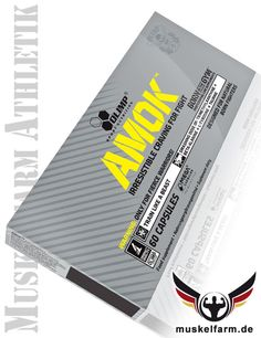 Olimp Amok ist ein beliebtes Trainingsboost-Supplement mit Beta Alanin, Tyrosin, Taurin, 1,37-Trimethylxanthin und Ginseng, hoher Koffeingehalt.