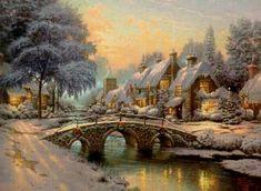 Thomas Kinkade | Thomas Kinkade Winter - Winter Fan Art (23436544) - Fanpop fanclubs