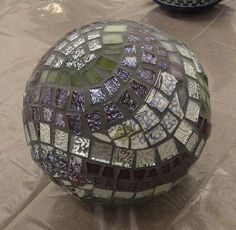 Purple Mosaic Sphere by DayBreak Mosaics, via Flickr