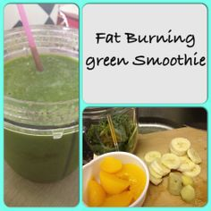 FAT BURNING GREEN SMOOTHIE : 1 cup spinach, 1 cup kale, 1 1/2 cups brewed green tea (chilled), 1 inch ginger, 1 cup peaches, 1/2 banana and 1 tbsp of grounded flaxseeds. Results: Yummy, Fresh, Tangy (thanks to the ginger). #nutribullet #nutribulletrecipe #smoothies