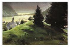 A watercolor painting by Carlos Herrera. Watercolor Paintings, Painting, Art, Gouache Art, Gouache