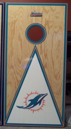 Sporting Goods Sensible Miami Dolphins State Pride Cornhole Board Set Latest Technology