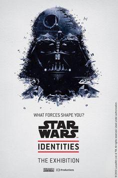 """Affiche exposition """"Star Wars Identities"""" - Paris"""
