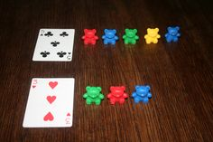Kindergarten Math war game with manipulatives -a way to practice connecting…