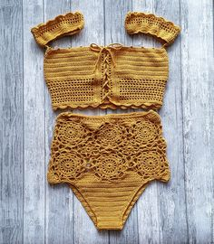 Super Ideas For Diy Fashion Tops Bathing Suits Crochet Bikini Bottoms, Crochet Bikini Pattern, Crochet Woman, Knit Crochet, Crochet Hats, Crochet Designs, Crochet Patterns, Diy Fashion Tops, Crochet Bathing Suits