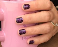 Fizzy Grape with Lace Noir over it! www.jennifercross.jamberrynails.net