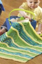 Love the textures and colors on this #knit car seat blanket! #baby #stripes