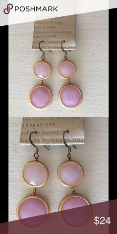 NEW purple lavender Drop earrings Anthropologie BRAND NEW! NEVER WORN earrings from Anthropologie. Purple Lavender Stone drops Anthropologie Jewelry Earrings