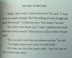 Haha One Of The Best Parts Of The Book The Fault In Our