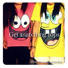 Best friend bucket list- wear matching shirts... I DEFINITELY want to get matching shirts!!! These ones are soooo cute