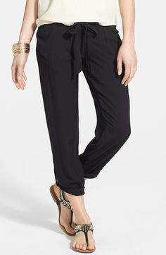 Jolt Drawstring Woven Pants (Juniors) available at #Nordstrom