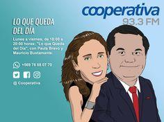"""Cada tarde Paula Bravo y Mauricio Bustaman te informan en """"Lo que Queda del Día"""" desde las 18:00 a las 20:00"""