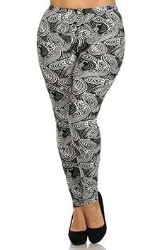 #FallFashionTrends2016 Show the world how funky you can be! These fashion leggings will add the right amount of FUN to your wardrobe! These Floral #Swirl Abstrac...