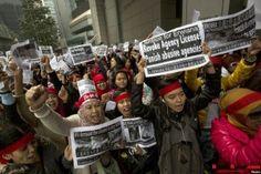 Demo Protes Pelecehan PRT Asal Indonesia di Hongkong