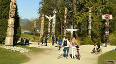 Stanley Park has a lot to offer. including gardens, monuments, Totem poles and the aquarium.