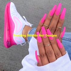 In seek out some nail designs and some ideas for your nails? Listed here is our listing of must-try coffin acrylic nails for modern women. Shoe Nails, Aycrlic Nails, Stiletto Nails, Coffin Nails, Matte Nails, Pink Nail Designs, Acrylic Nail Designs, Nails Design, Perfect Nails