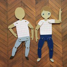 Мадам Ажур: МК от Юлии Калнынь. Шарнирная кукла и кукла-дергунчик