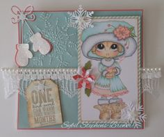 Here is a new Winter Release digi image from Sherri Baldy. I colored the image with Copic markers, used 3 different Memory Box dies, beautiful lace and created an easel card.