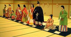 Japanese court dress from the Asuka era through modern times.