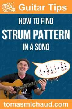 Strumming patterns can be the life of a song. After all, we're working with the same 12 chords and notes in Western music! With strums being such an important characteristic of a song, how do you find the strumming pattern so you can play along on the guitar? Finding the perfect strumming pattern for a song can be a bit elusive, especially if you're a beginner guitar player. In this guitar lesson, I will show you the steps you can take to make it much easier. Play Guitar Chords, Learn Acoustic Guitar, Learn To Play Guitar, Guitar Songs, Indie Music, Folk Music, Guitar Online, Guitar Lessons For Beginners, Cool Electric Guitars