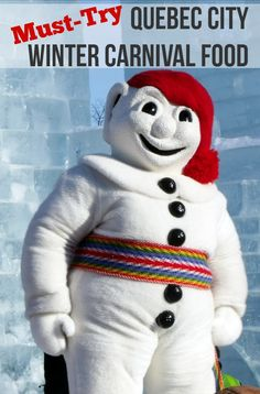 Bonhomme -- ambassador to the Quebec City Winter Carnival necessary to sit in hot tub for hours after viewing the magnificent outdoor ice sculptures at this yearly event Canadian Things, I Am Canadian, Canadian History, Canadian Cuisine, Quebec Montreal, Old Quebec, Quebec City, Quebec Winter Carnival, Chateau Frontenac